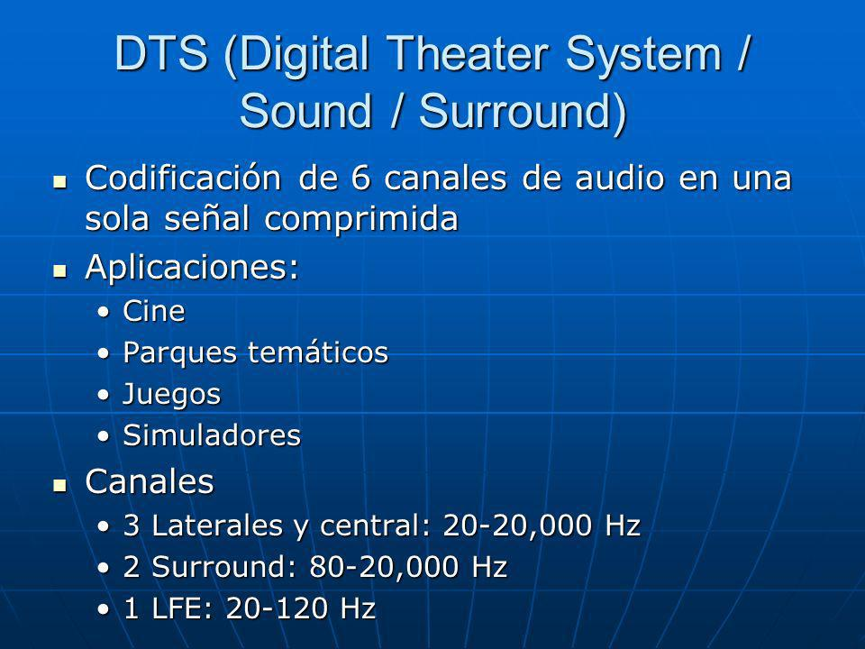 DTS (Digital Theater System / Sound / Surround)