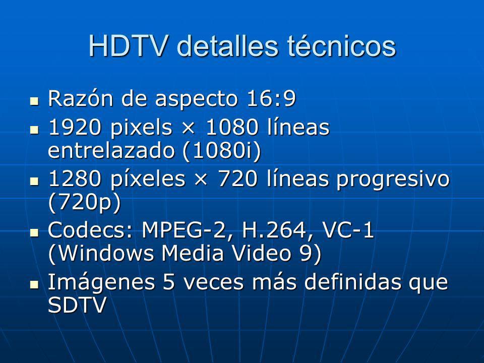 HDTV detalles técnicos