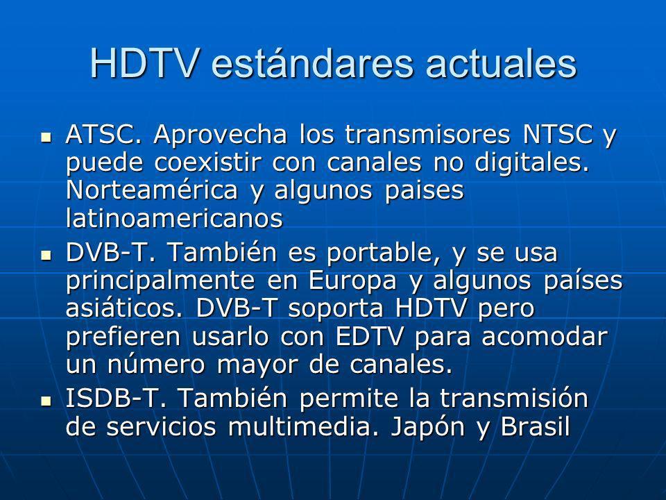 HDTV estándares actuales