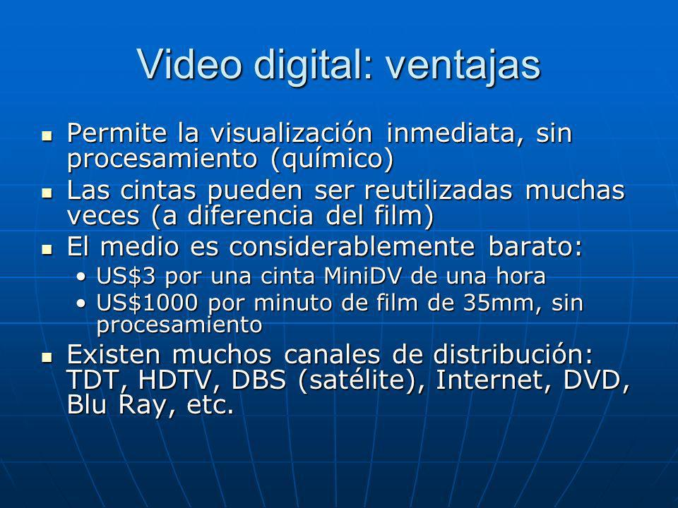 Video digital: ventajas