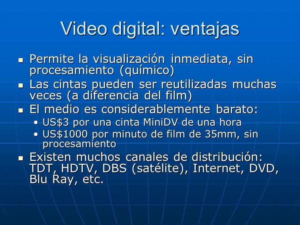 Video digital: ventajas