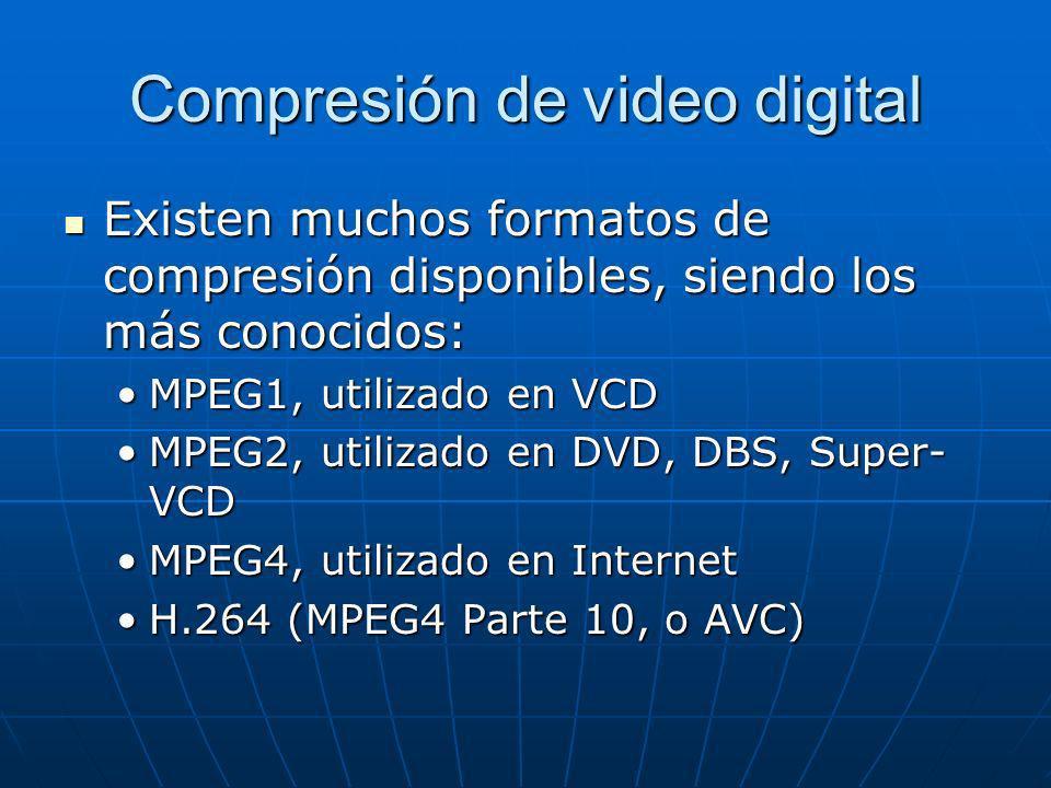 Compresión de video digital