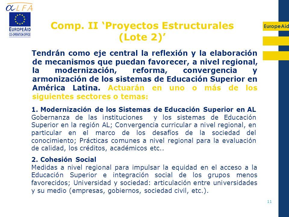 Comp. II 'Proyectos Estructurales (Lote 2)'