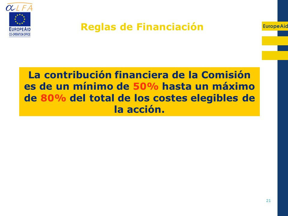 Reglas de Financiación