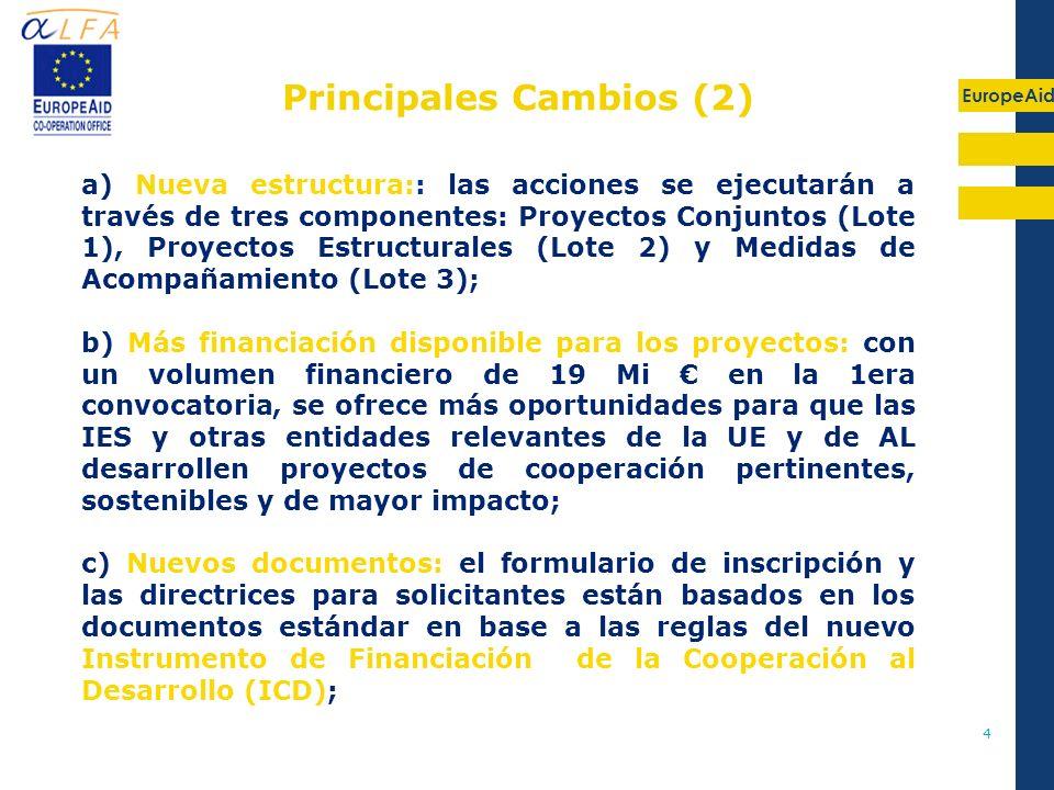 Principales Cambios (2)