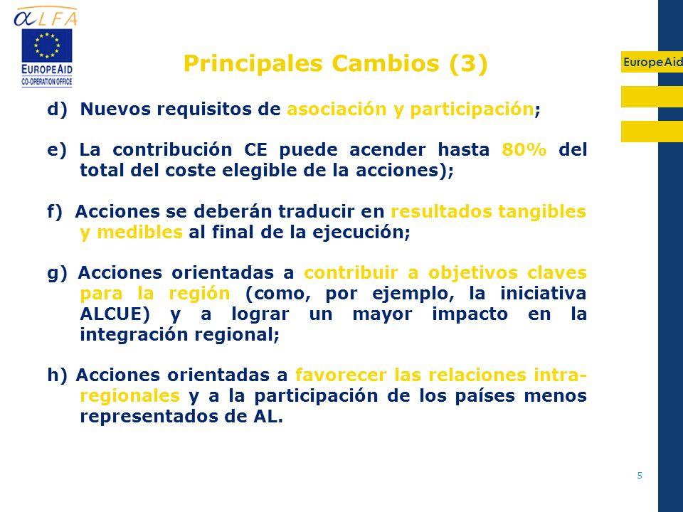 Principales Cambios (3)