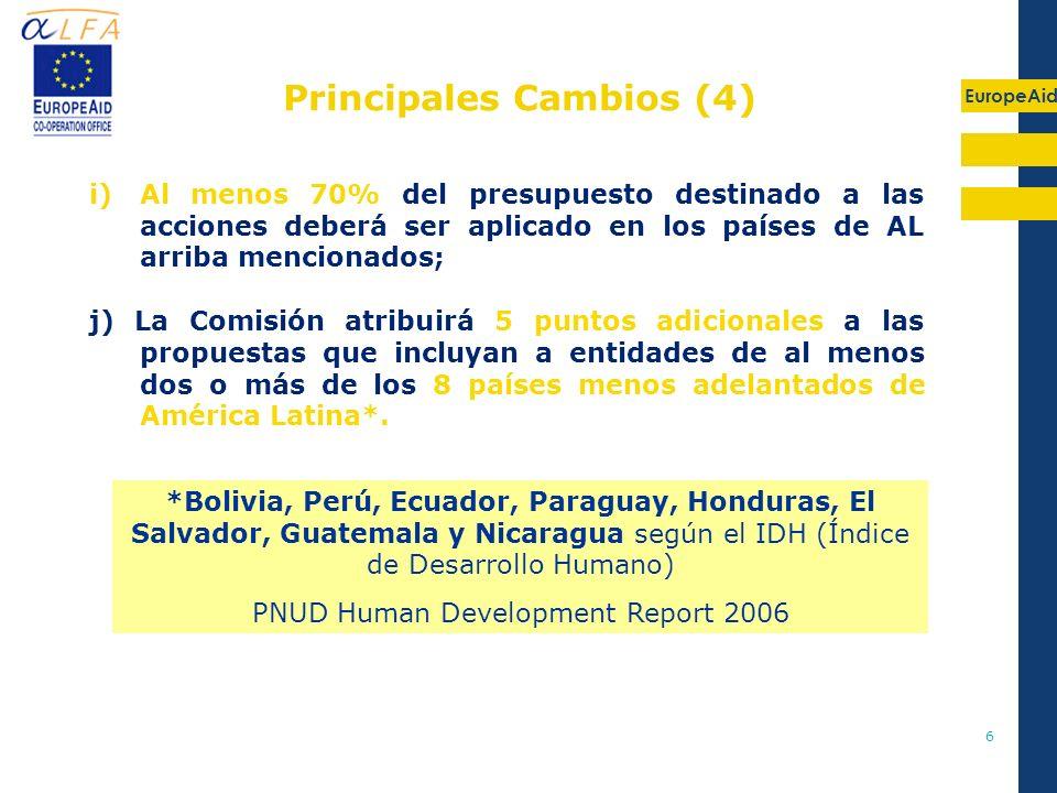 Principales Cambios (4)