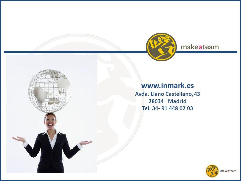 www.inmark.es Avda. Llano Castellano, 43 28034 Madrid