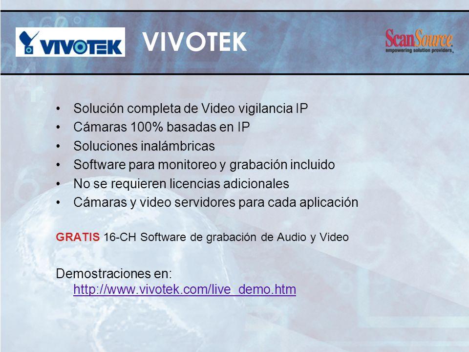VIVOTEK Solución completa de Video vigilancia IP