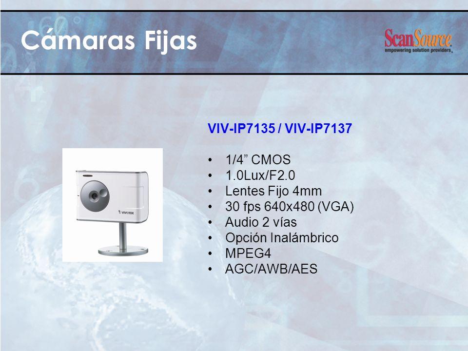 Cámaras Fijas VIV-IP7135 / VIV-IP7137 1/4 CMOS 1.0Lux/F2.0