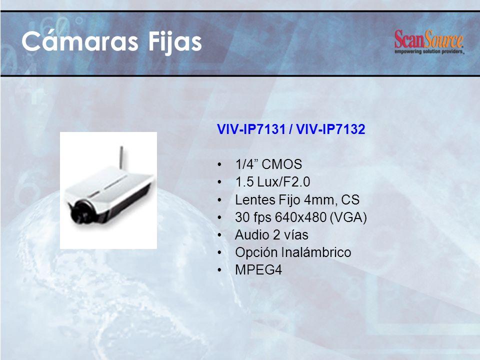 Cámaras Fijas VIV-IP7131 / VIV-IP7132 1/4 CMOS 1.5 Lux/F2.0