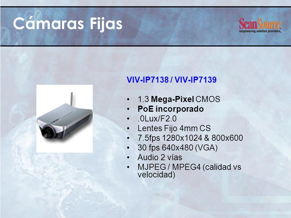 Cámaras Fijas VIV-IP7138 / VIV-IP7139 1.3 Mega-Pixel CMOS