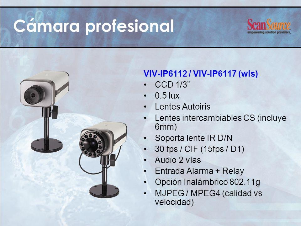 Cámara profesional VIV-IP6112 / VIV-IP6117 (wls) CCD 1/3 0.5 lux