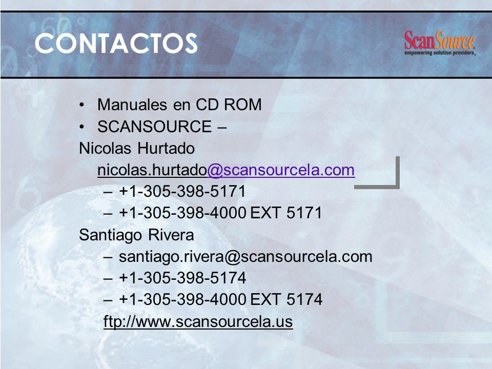 CONTACTOS Manuales en CD ROM SCANSOURCE – Nicolas Hurtado