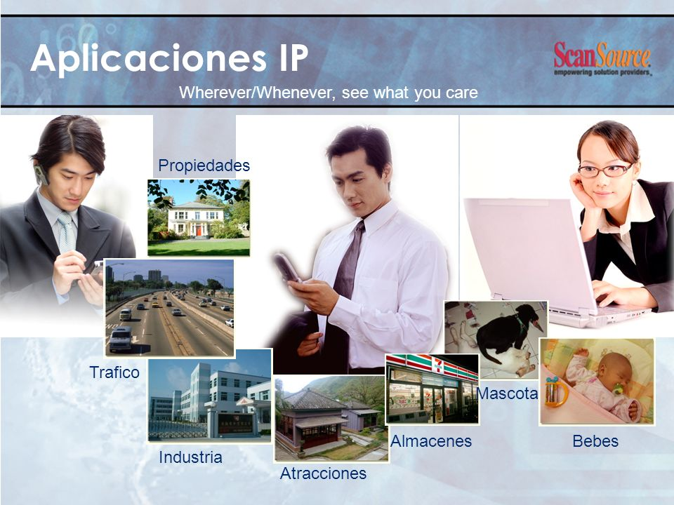 Aplicaciones IP Wherever/Whenever, see what you care Propiedades