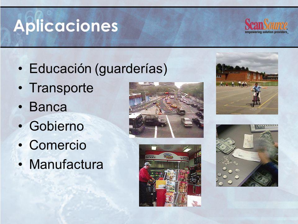 Aplicaciones Educación (guarderías) Transporte Banca Gobierno Comercio