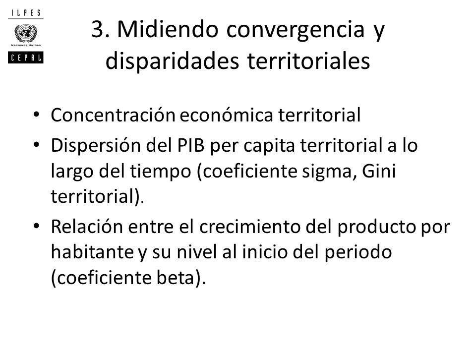 3. Midiendo convergencia y disparidades territoriales