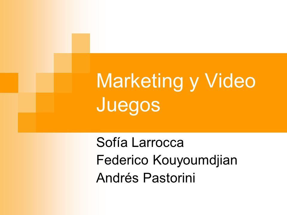 Marketing y Video Juegos