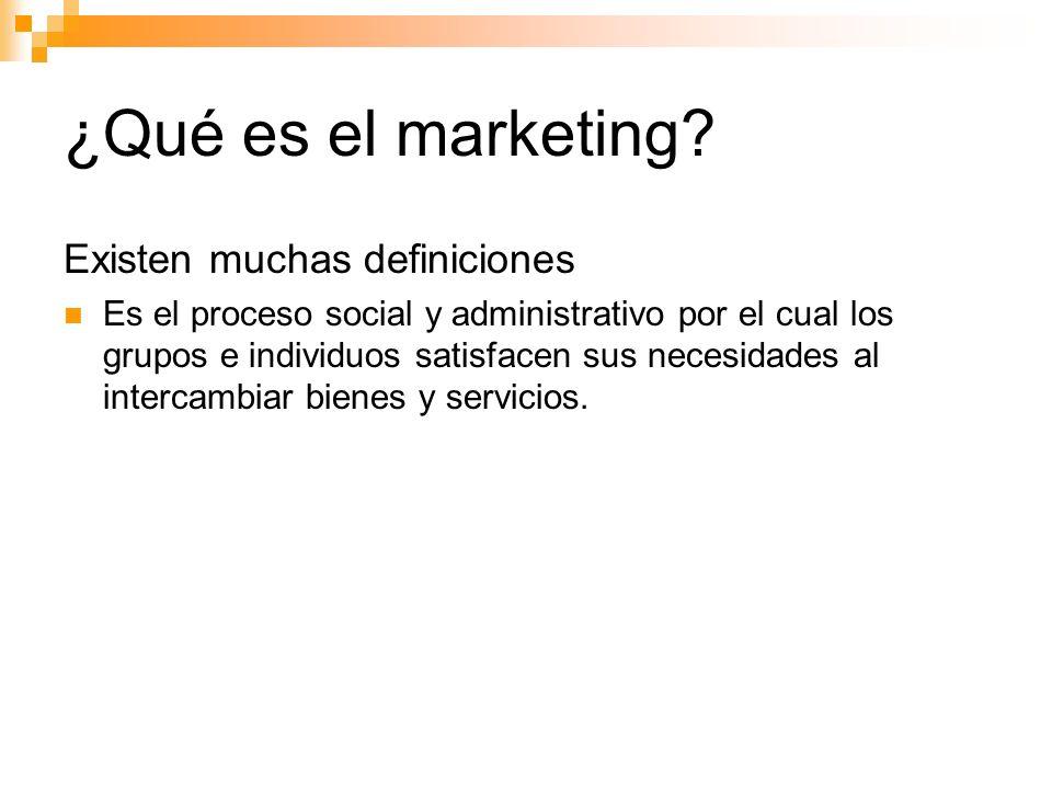 ¿Qué es el marketing Existen muchas definiciones
