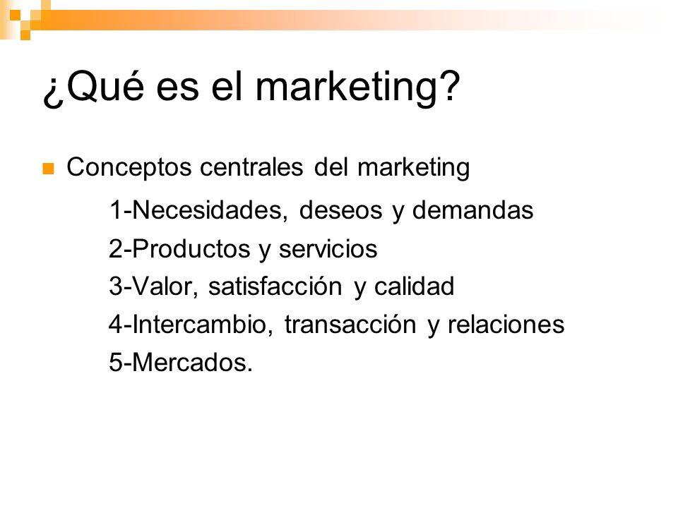 ¿Qué es el marketing 1-Necesidades, deseos y demandas