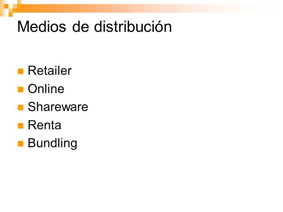 Medios de distribución