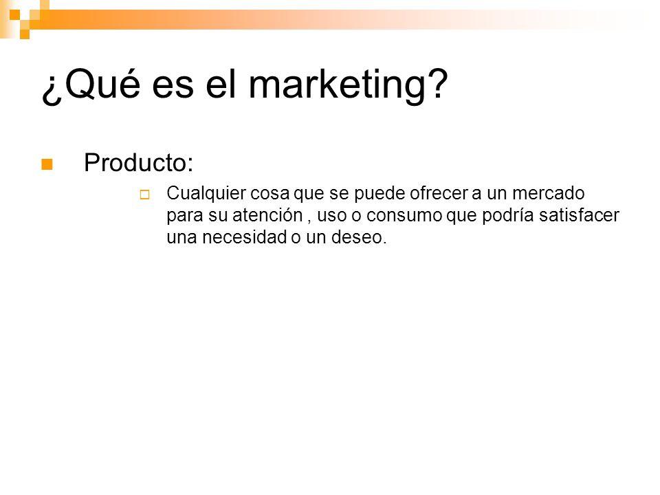 ¿Qué es el marketing Producto: