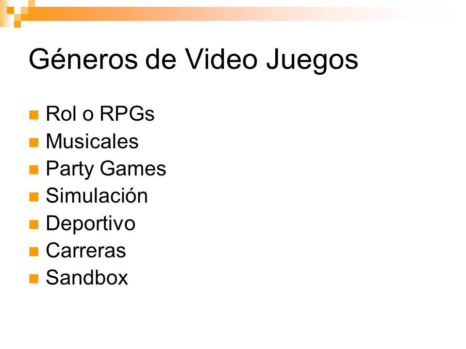 Géneros de Video Juegos