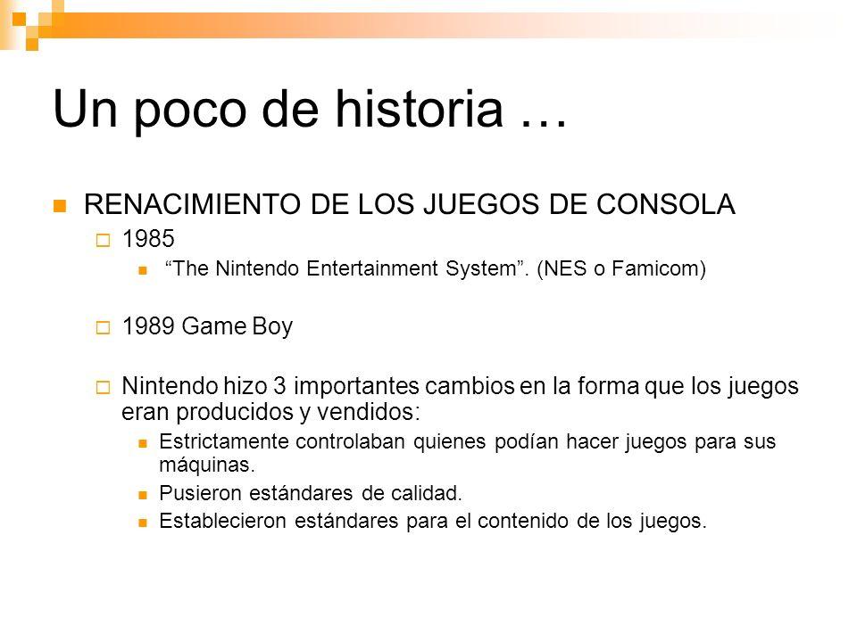 Un poco de historia … RENACIMIENTO DE LOS JUEGOS DE CONSOLA 1985