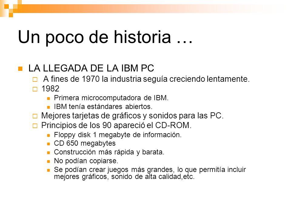 Un poco de historia … LA LLEGADA DE LA IBM PC
