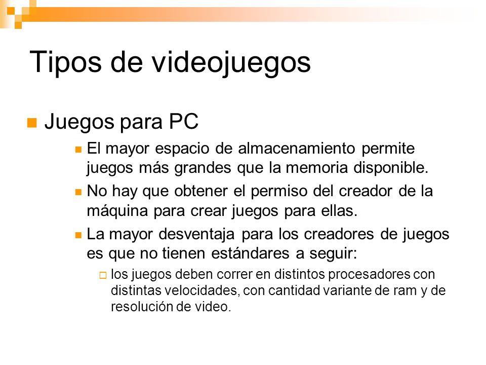 Tipos de videojuegos Juegos para PC