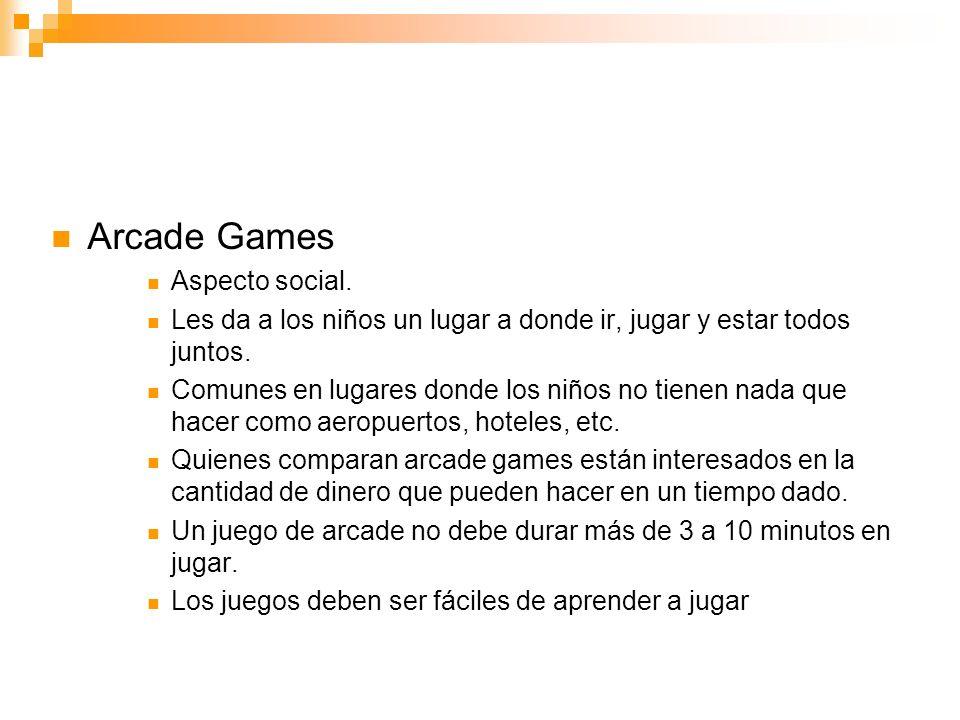 Arcade Games Aspecto social.