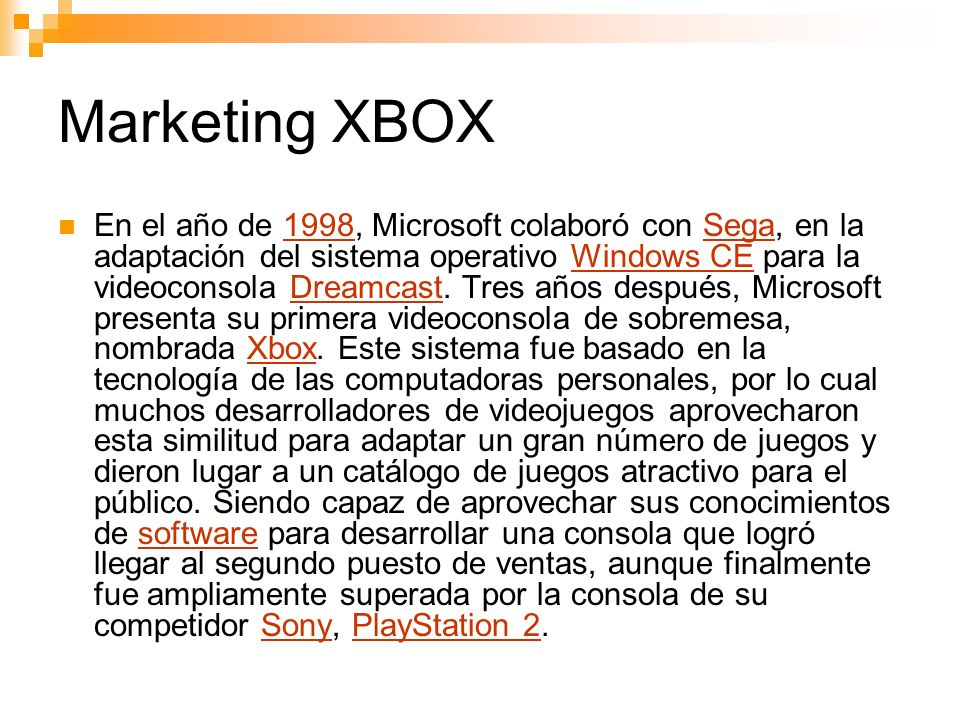 Marketing XBOX