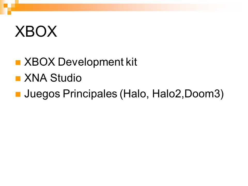 XBOX XBOX Development kit XNA Studio