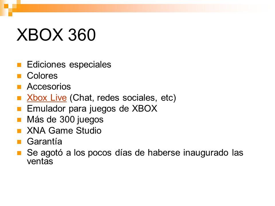 XBOX 360 Ediciones especiales Colores Accesorios