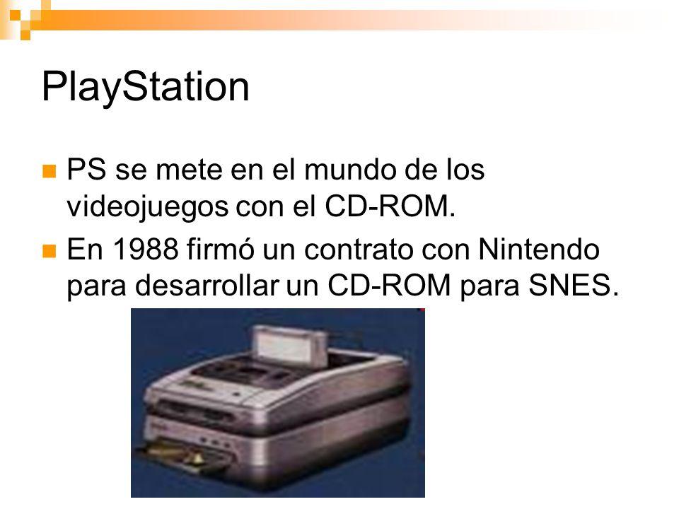 PlayStation PS se mete en el mundo de los videojuegos con el CD-ROM.