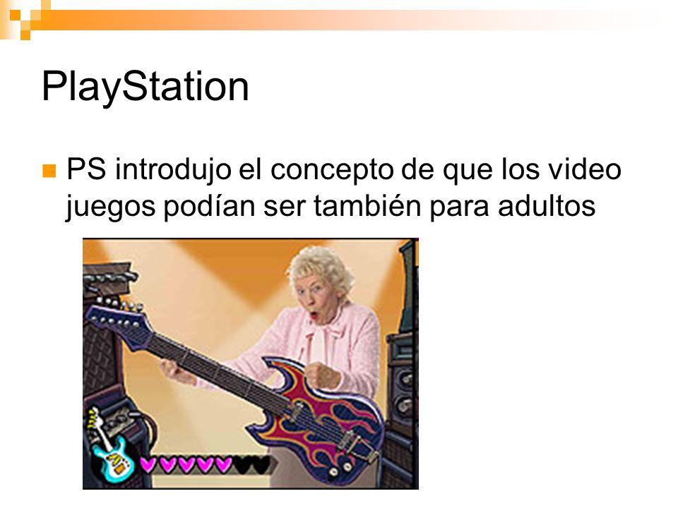 PlayStation PS introdujo el concepto de que los video juegos podían ser también para adultos