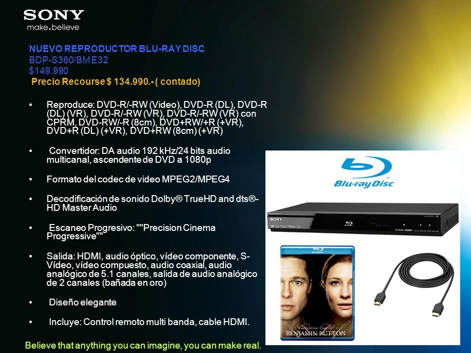 NUEVO REPRODUCTOR BLU-RAY DISC BDP-S360/BM E32 $149