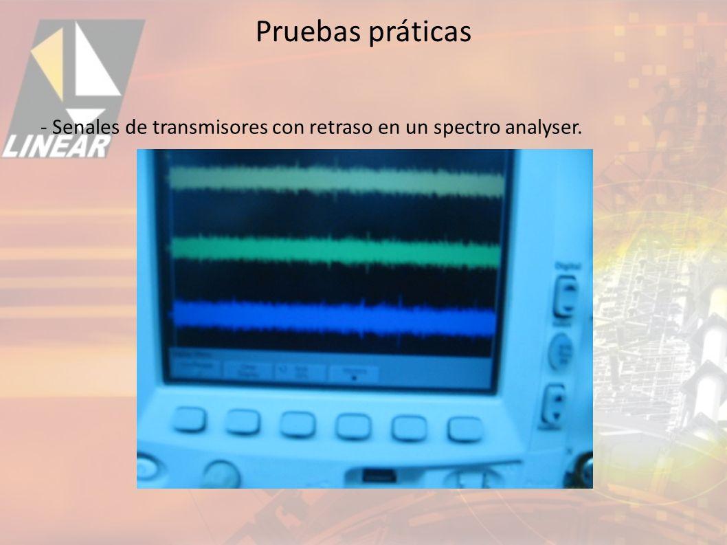 Pruebas práticas - Senales de transmisores con retraso en un spectro analyser. 31