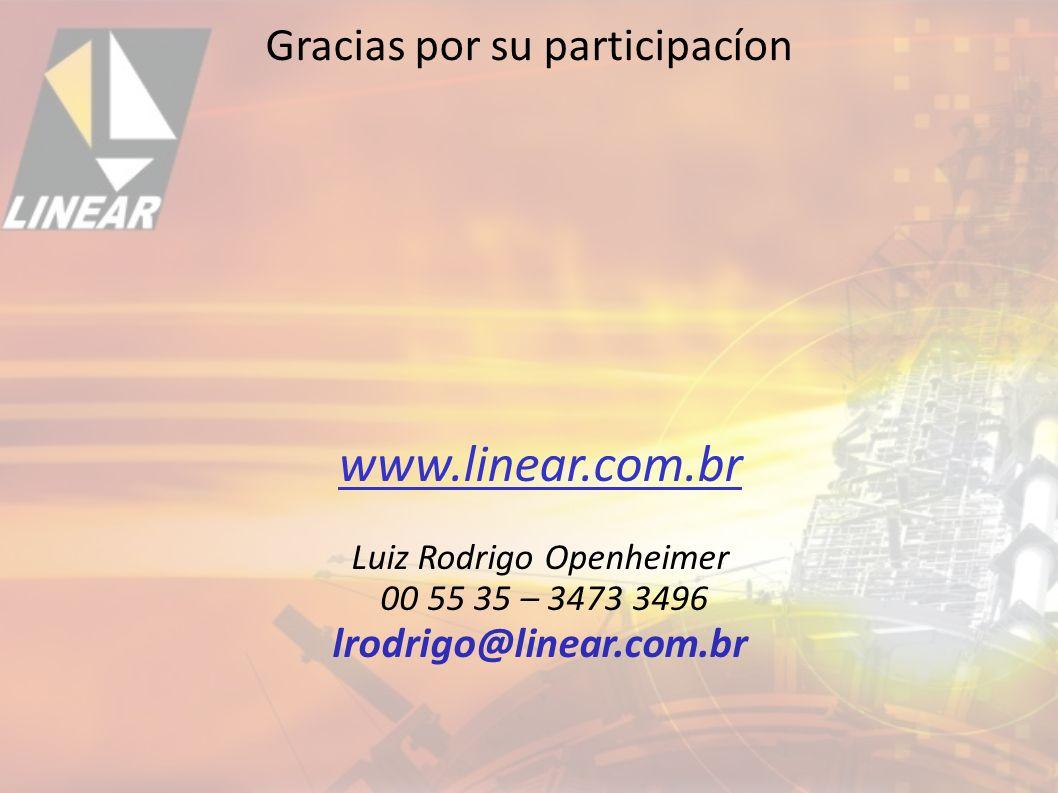 www.linear.com.br Gracias por su participacíon lrodrigo@linear.com.br
