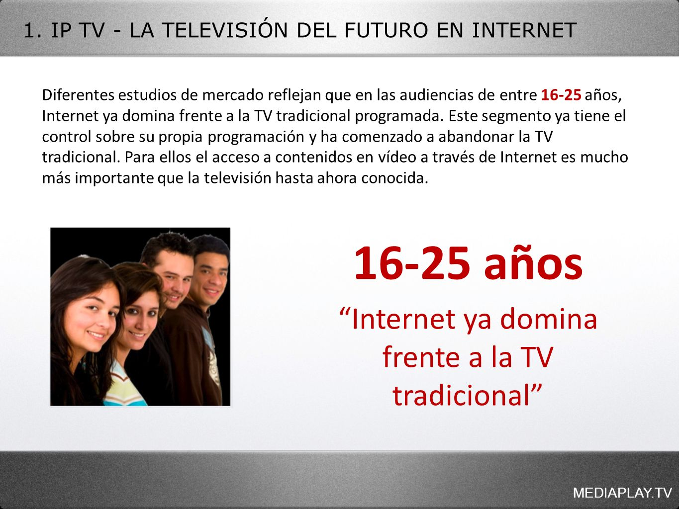 Internet ya domina frente a la TV tradicional