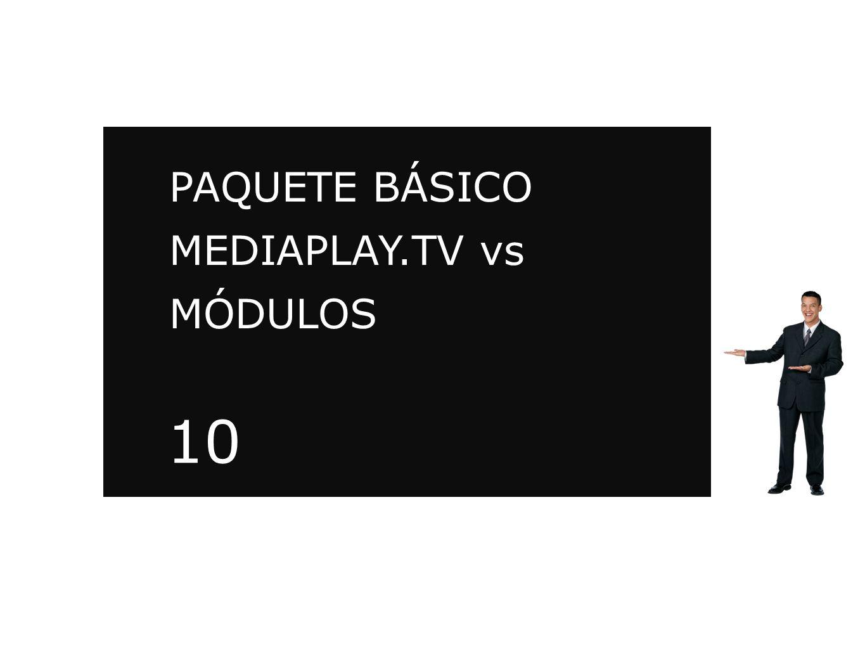 PAQUETE BÁSICO MEDIAPLAY.TV vs MÓDULOS