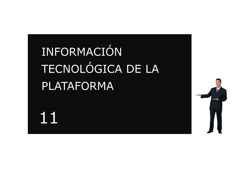 INFORMACIÓN TECNOLÓGICA DE LA PLATAFORMA