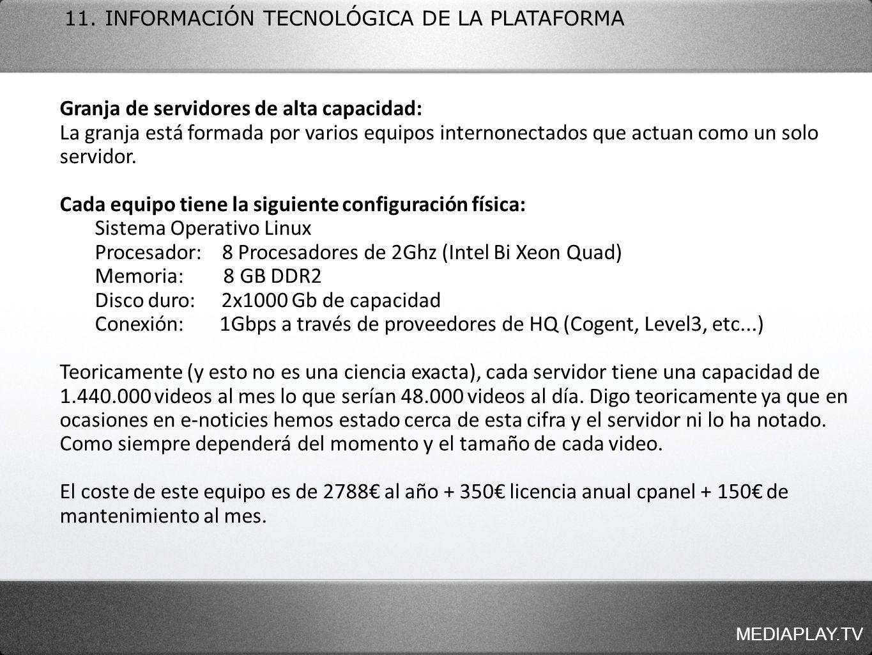 Granja de servidores de alta capacidad:
