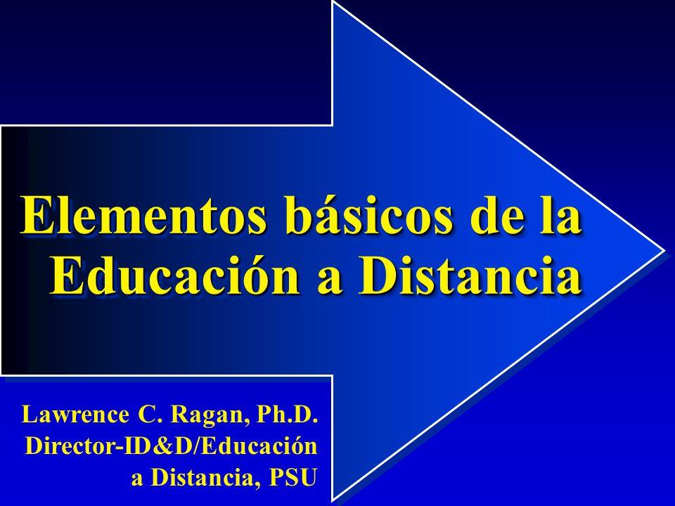 Elementos básicos de la Educación a Distancia
