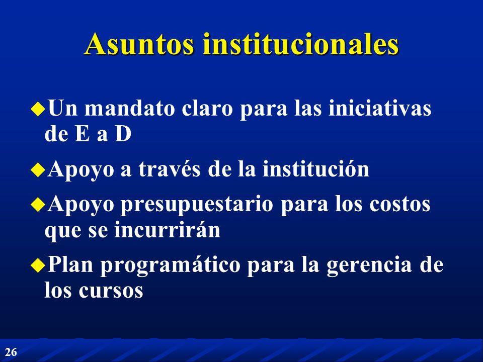 Asuntos institucionales