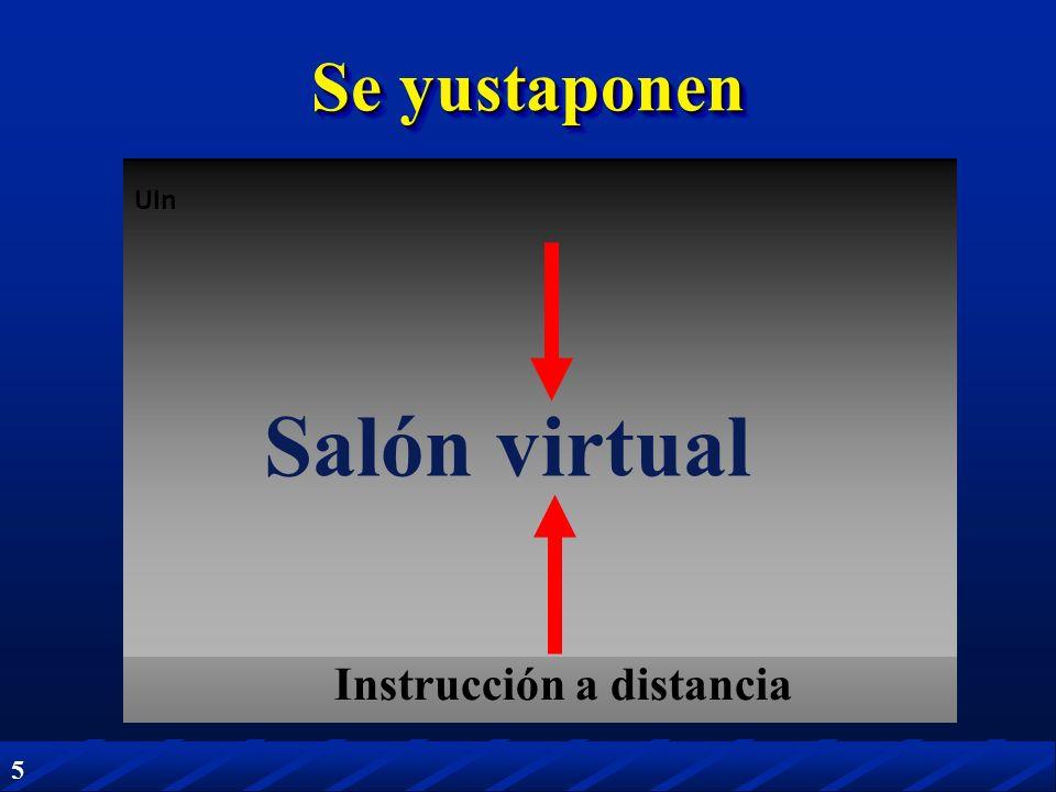 Se yustaponen UIn Salón virtual Instrucción a distancia