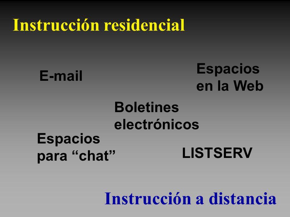 Instrucción residencial