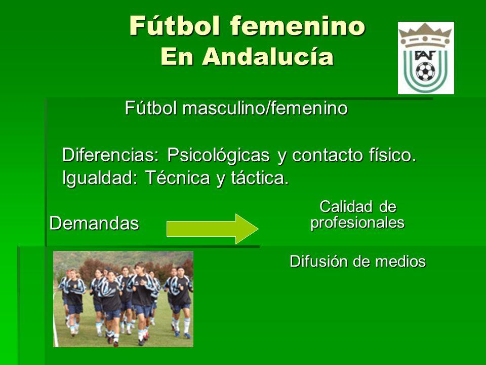 Fútbol femenino En Andalucía