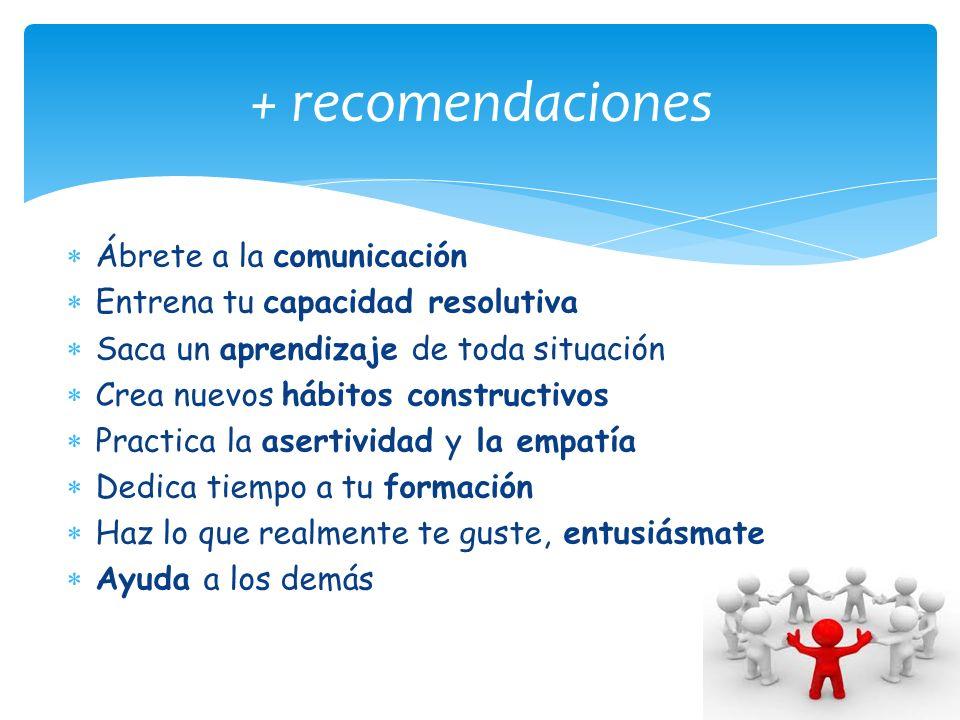 + recomendaciones Ábrete a la comunicación