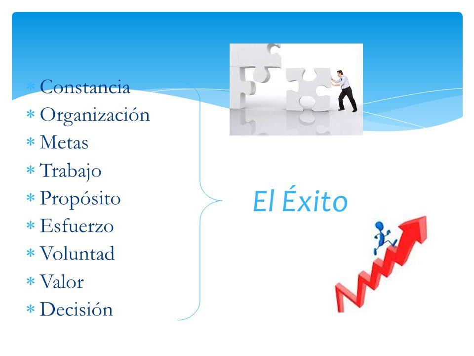 El Éxito Constancia Organización Metas Trabajo Propósito Esfuerzo